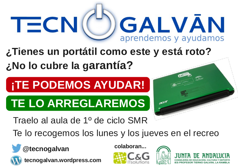 Cartel TecnoGalvan