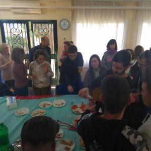 9 profesorado y alumando de comida