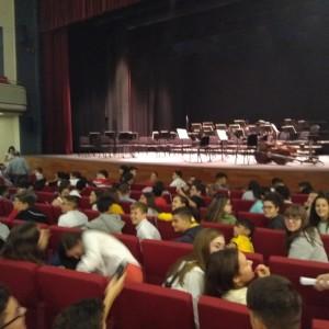 Alumnado en el teatro